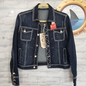 R Cinco Ranch denim bling jacket NWT
